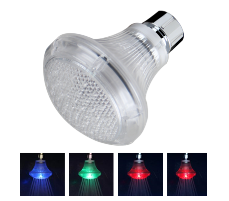 LED Temperature Sensitive 4-Stage Color Changing Lamp Showerhead