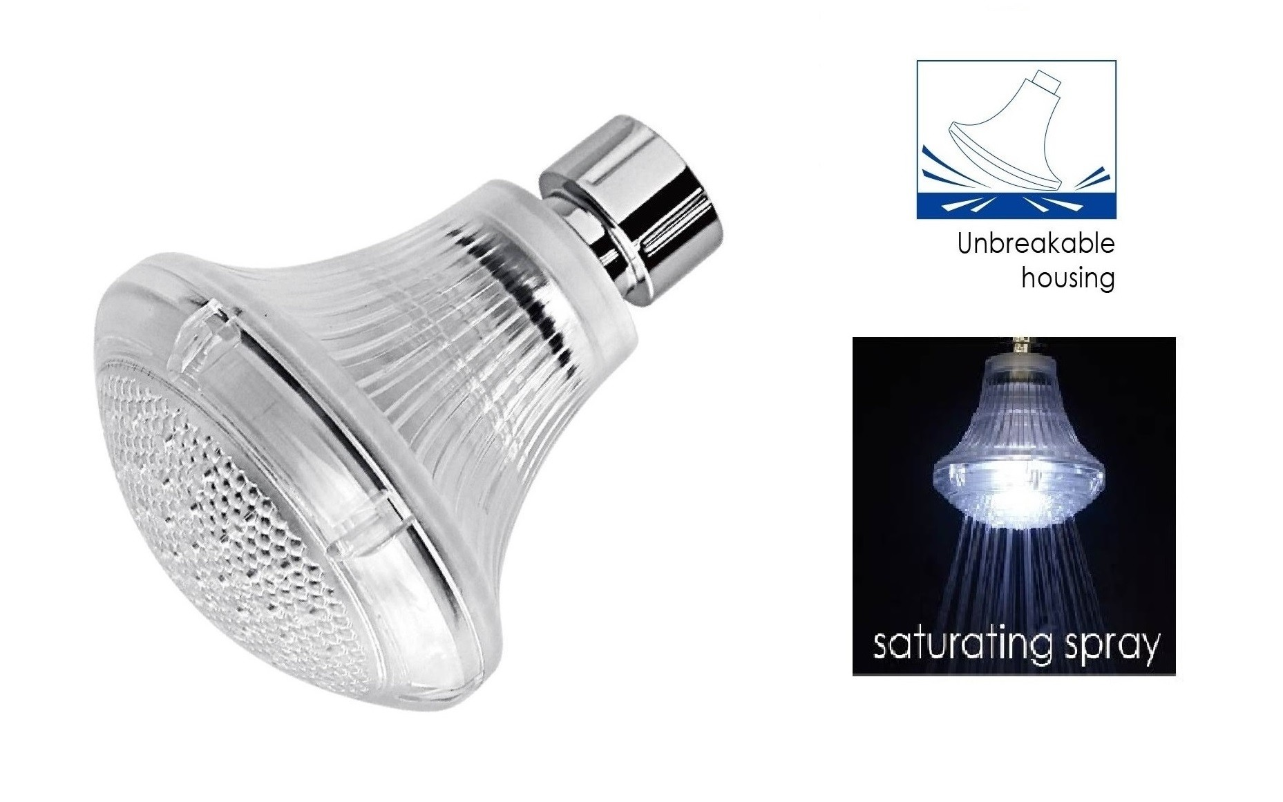 LED Lamp Showerhead