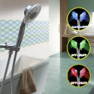 GTV's 2 Function LED Temperature Sensitive Color Changing Shower Head with Hose/Mounting Bracket