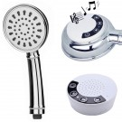 Handheld Shower Head with Wireless Bluetooth Speaker, Hose and Mounting Bracket