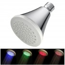 LED Temperature Sensitive 4-Stage Color Changing Showerhead